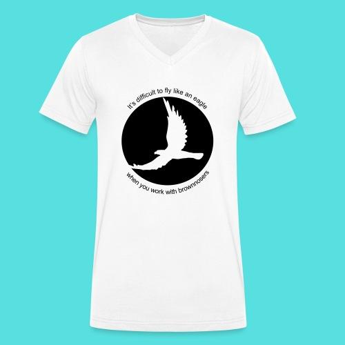 (difficult_new) - Männer Bio-T-Shirt mit V-Ausschnitt von Stanley & Stella