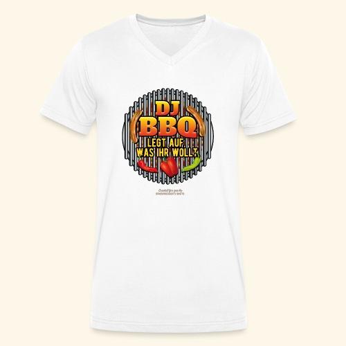 Grill T Shirt lustiger Spruch DJ BBQ - Männer Bio-T-Shirt mit V-Ausschnitt von Stanley & Stella