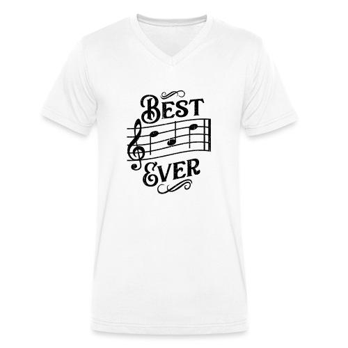Best Dad Ever - old style - black - Ekologisk T-shirt med V-ringning herr från Stanley & Stella