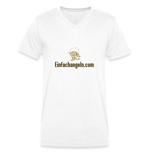 Einfachangeln Teamshirt - Männer Bio-T-Shirt mit V-Ausschnitt von Stanley & Stella