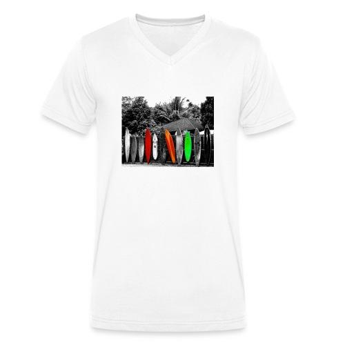 Surf Boards - Männer Bio-T-Shirt mit V-Ausschnitt von Stanley & Stella
