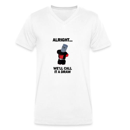 The Black Knight - Men's Organic V-Neck T-Shirt by Stanley & Stella