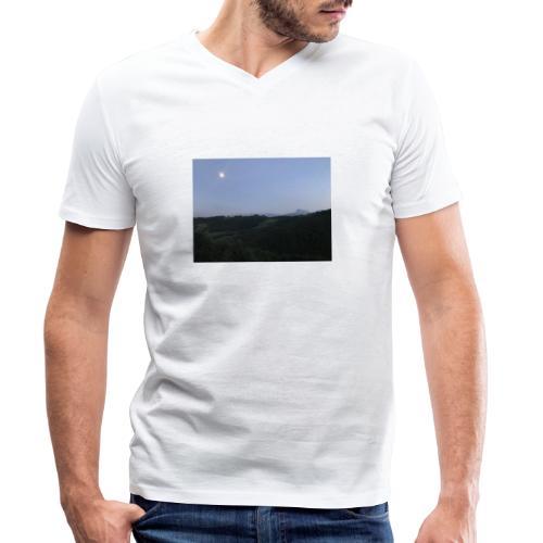Paesaggio con luna - T-shirt ecologica da uomo con scollo a V di Stanley & Stella