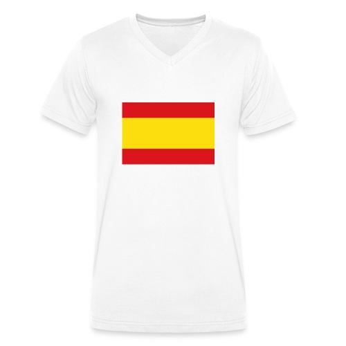 vlag van spanje - Mannen bio T-shirt met V-hals van Stanley & Stella
