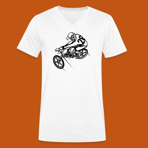 BMX Fahrrad / Bike 01_schwarz - Männer Bio-T-Shirt mit V-Ausschnitt von Stanley & Stella
