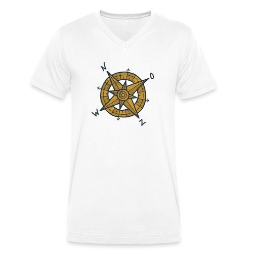 compas - Mannen bio T-shirt met V-hals van Stanley & Stella