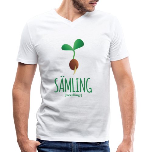 Sämling - Männer Bio-T-Shirt mit V-Ausschnitt von Stanley & Stella