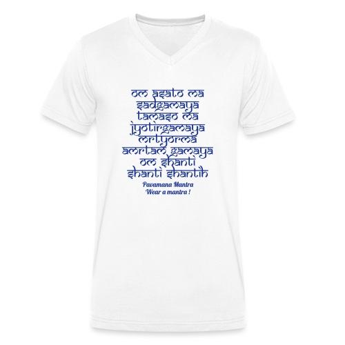 Om Asatoma Sadgamaya - T-shirt ecologica da uomo con scollo a V di Stanley & Stella