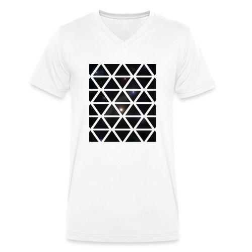 Dreiecke Weltraum - Männer Bio-T-Shirt mit V-Ausschnitt von Stanley & Stella