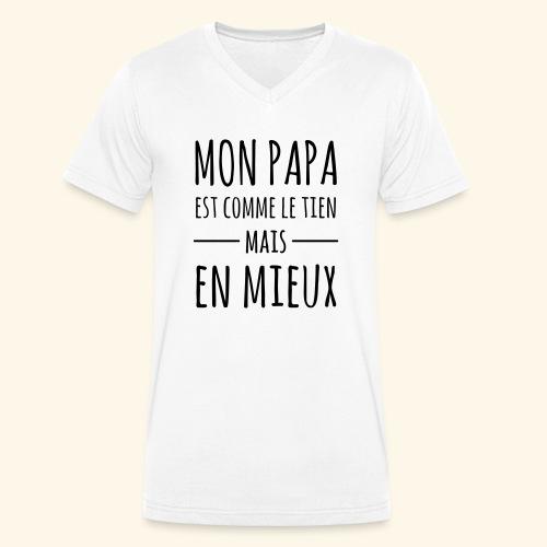 Papa en mieux - T-shirt bio col V Stanley & Stella Homme