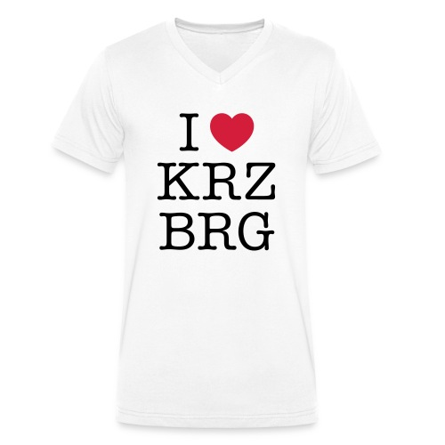 I love KRZBRG - Männer Bio-T-Shirt mit V-Ausschnitt von Stanley & Stella