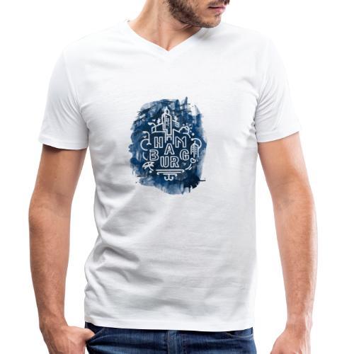Hamburg_Ink.png - Männer Bio-T-Shirt mit V-Ausschnitt von Stanley & Stella