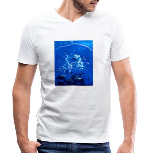 Krater - Männer Bio-T-Shirt mit V-Ausschnitt von Stanley & Stella