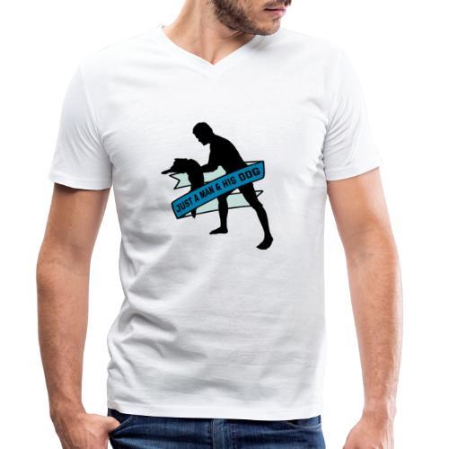 A Man & His Dog - Herrchen Hund Geschenkidee - Männer Bio-T-Shirt mit V-Ausschnitt von Stanley & Stella