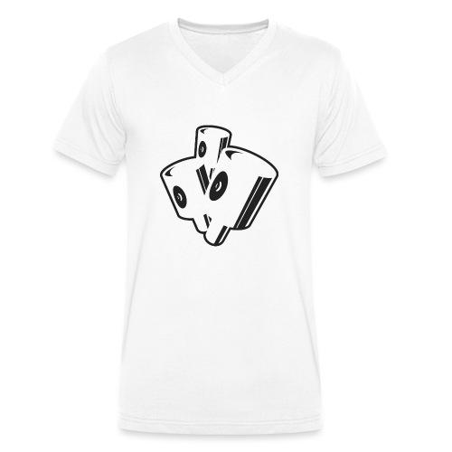 graffiti fat caps x3 ver.0.1 - Økologisk Stanley & Stella T-shirt med V-udskæring til herrer