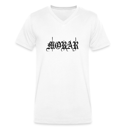 Morar - Logo white - Men's Organic V-Neck T-Shirt by Stanley & Stella