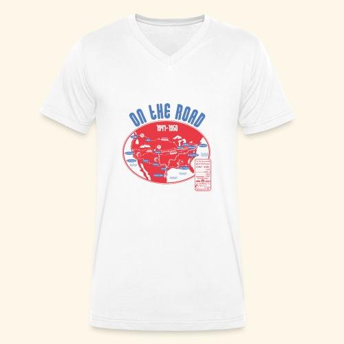 TShirtOntheRoad copy - Camiseta ecológica hombre con cuello de pico de Stanley & Stella