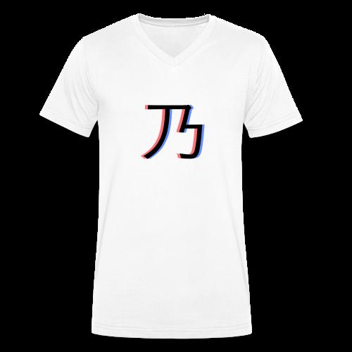 3D Logo - Økologisk Stanley & Stella T-shirt med V-udskæring til herrer
