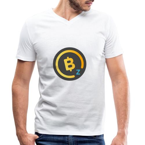 Dark BitcoinZ Logo - Men's Organic V-Neck T-Shirt by Stanley & Stella