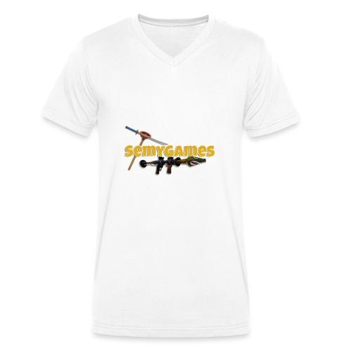MerchLogo - Mannen bio T-shirt met V-hals van Stanley & Stella