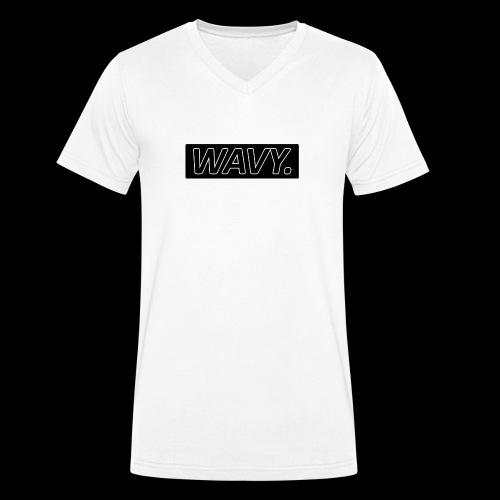 BLACK WAVY. RECTANGLE - T-shirt bio col V Stanley & Stella Homme