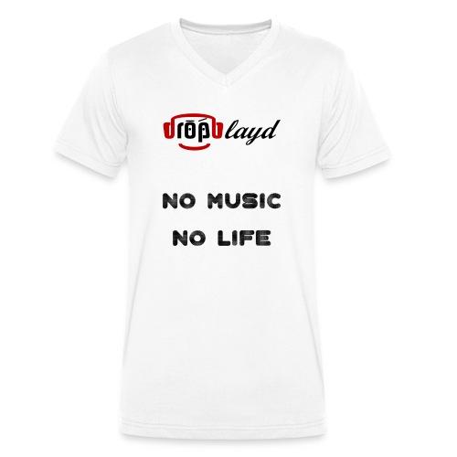 dropblayd Merch - No Music No Life - Männer Bio-T-Shirt mit V-Ausschnitt von Stanley & Stella