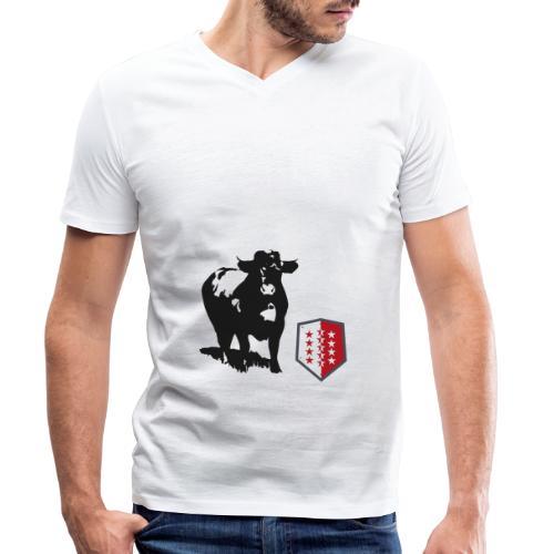 Vache - Cow - Männer Bio-T-Shirt mit V-Ausschnitt von Stanley & Stella