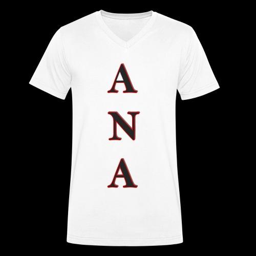 ANA - Camiseta ecológica hombre con cuello de pico de Stanley & Stella