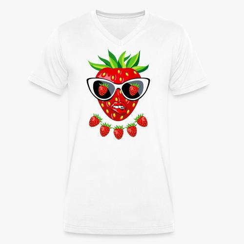 Süße Erdbeere Kussmund Sonnenbrille 23 - Männer Bio-T-Shirt mit V-Ausschnitt von Stanley & Stella