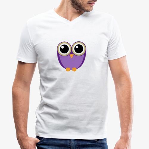 süße Eule - Männer Bio-T-Shirt mit V-Ausschnitt von Stanley & Stella