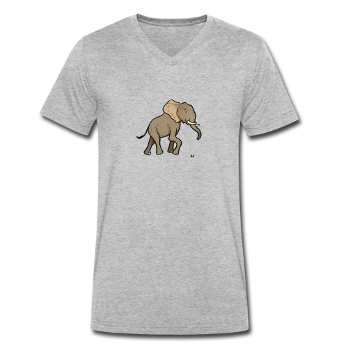 African elephant - Men's Organic V-Neck T-Shirt by Stanley & Stella