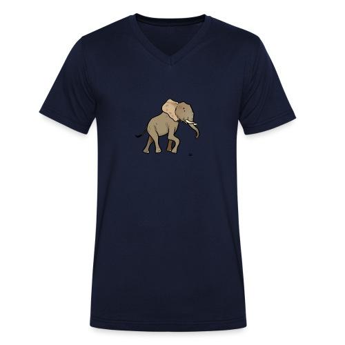 Afrikansk elefant - Økologisk T-skjorte med V-hals for menn fra Stanley & Stella