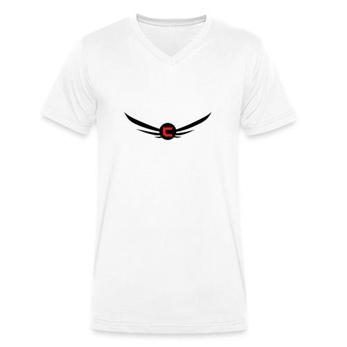 CloudyLogoTshirt - Ekologisk T-shirt med V-ringning herr från Stanley & Stella