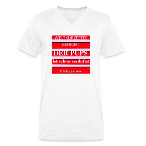 Gedicht DER PUPS - Männer Bio-T-Shirt mit V-Ausschnitt von Stanley & Stella