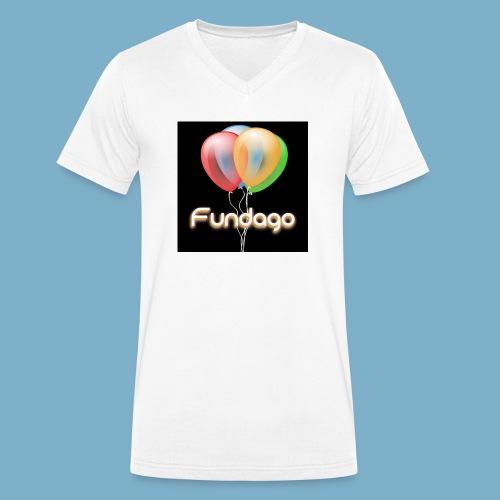 Fundago Ballon - Männer Bio-T-Shirt mit V-Ausschnitt von Stanley & Stella
