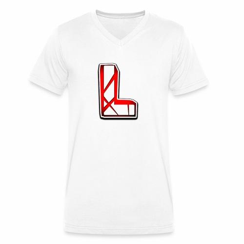 Leon Schmidt LOGO - Men's Organic V-Neck T-Shirt by Stanley & Stella