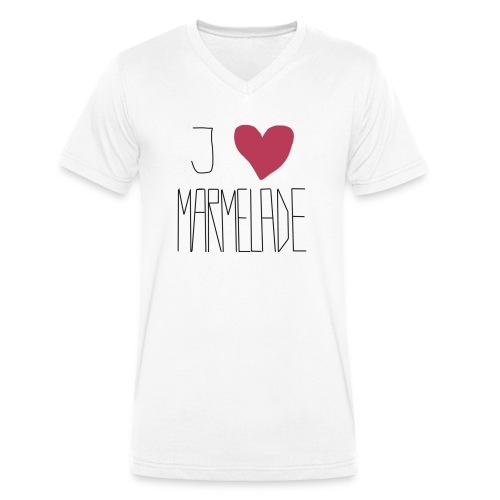 Marmeladenliebe - Männer Bio-T-Shirt mit V-Ausschnitt von Stanley & Stella