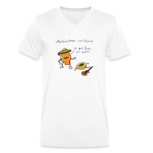 Melocotones con cojones - Männer Bio-T-Shirt mit V-Ausschnitt von Stanley & Stella