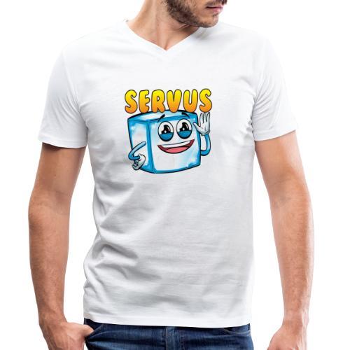 icelapServus - Männer Bio-T-Shirt mit V-Ausschnitt von Stanley & Stella