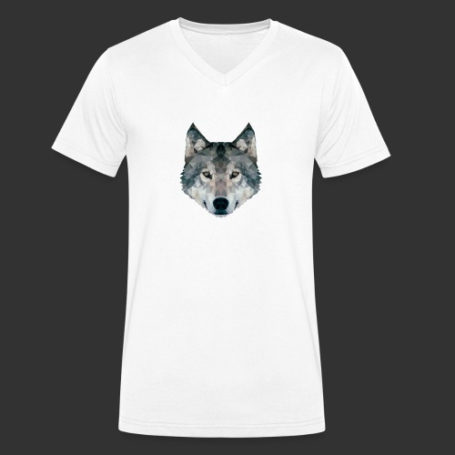Loup LowPoly - T-shirt bio col V Stanley & Stella Homme