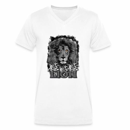 leon 1 - Camiseta ecológica hombre con cuello de pico de Stanley & Stella