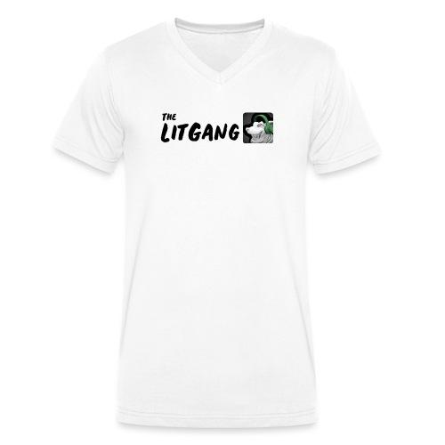 LitGang - Men's Organic V-Neck T-Shirt by Stanley & Stella