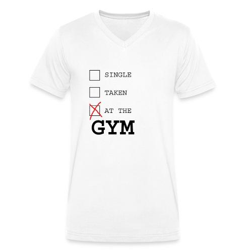 single taken gym - Mannen bio T-shirt met V-hals van Stanley & Stella