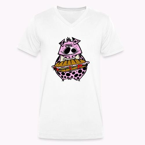 pig vs pig col - T-shirt ecologica da uomo con scollo a V di Stanley & Stella