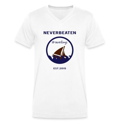 Traveling, Neverbeaten - Männer Bio-T-Shirt mit V-Ausschnitt von Stanley & Stella