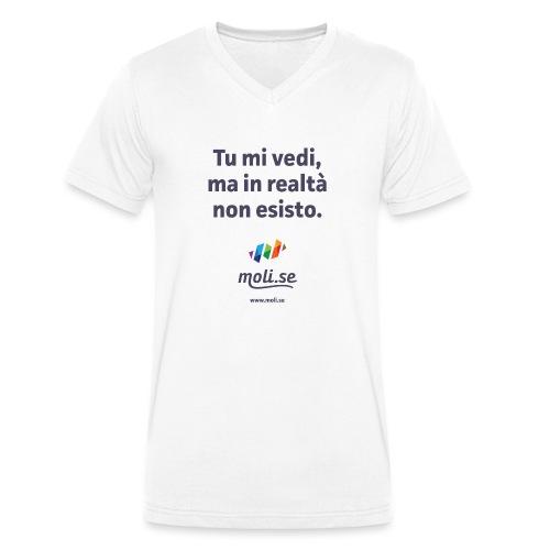 Non esisto - T-shirt ecologica da uomo con scollo a V di Stanley & Stella