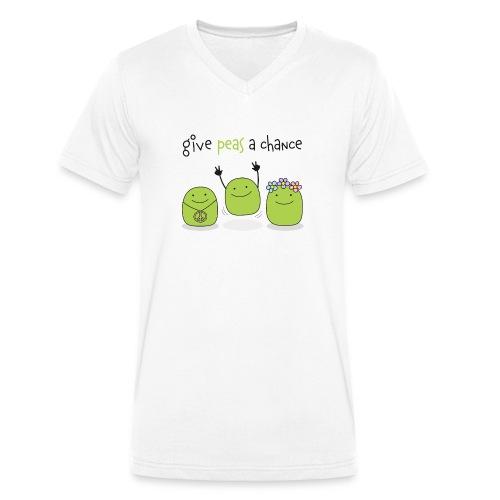 Give peas a chance! - Männer Bio-T-Shirt mit V-Ausschnitt von Stanley & Stella