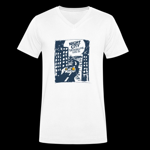 Night City - The World We Live In - Männer Bio-T-Shirt mit V-Ausschnitt von Stanley & Stella