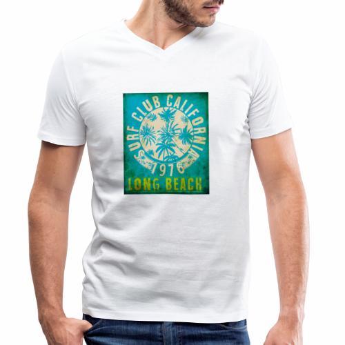 Long Beach Surf Club California 1976 Gift Idea - Men's Organic V-Neck T-Shirt by Stanley & Stella