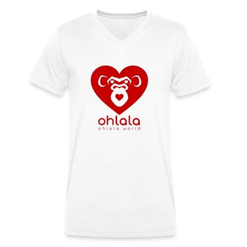 Ohlala LOVE - Männer Bio-T-Shirt mit V-Ausschnitt von Stanley & Stella